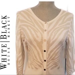 WHite House Black Market button cardigan